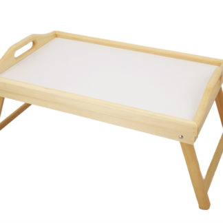 HR-3550 Flip-Top Adjustable Wooden Bed Tray with foldable legs