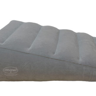 HR-7600 Inflatable Bed Wedge Pillow with velour surface, Gray, Horizontal Indention