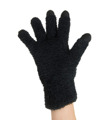 MH-1005 Touchscreen USB 5V Carbon Fiber Heated Gloves – Full Finger, Black
