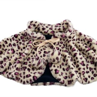 MH-1820 Warming Shawl with Carbon Fiber Heating Element (Leopard Print)