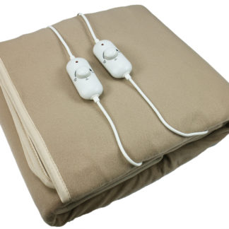 MH-2210 2-in 1 Double-sided Velour Heated Blanket, Rotary Linear Power Switch for Optimal Temperature Setting – Double Size