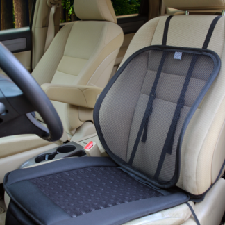 SA-4270 12V Aeroseat Cooling Ventilated Seat Cushion, Air Flow with Adjustable Lumbar Mesh Support Car Seat Fan Cushion