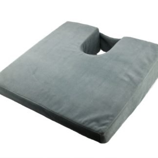 SU-2350 Wedge Cushion with Coccyx Cut-Out, Velour Cover